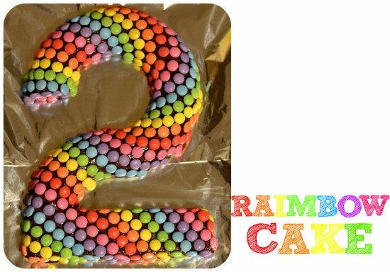 LE raimbow cake simple et coloré